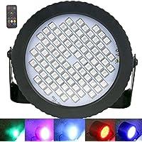 Luces Discoteca, Latta Alvor Luz de estroboscópicas 88 LED DJ Etapa Luz de Sonido Activado RGB Luces Para Fiesta (RGB)