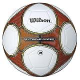 Wilson Ballon de Football Extérieur et intérieur, Surface rugueuse, Sol synthétique, Résistant à l'eau, Taille 7, De 10-12 ans, EXTREME RACER, Orange/Blanc, WTE8718XB03