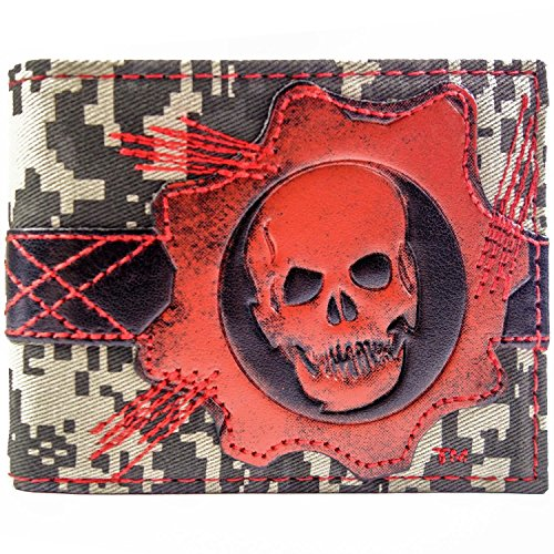 Microsoft Gears of War Cog Schädel Rot Portemonnaie ()