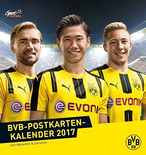 Borussia Dortmund - BVB Postkarten-Kalender 2017 - Calendrier-cartes postales 2017 du BVB
