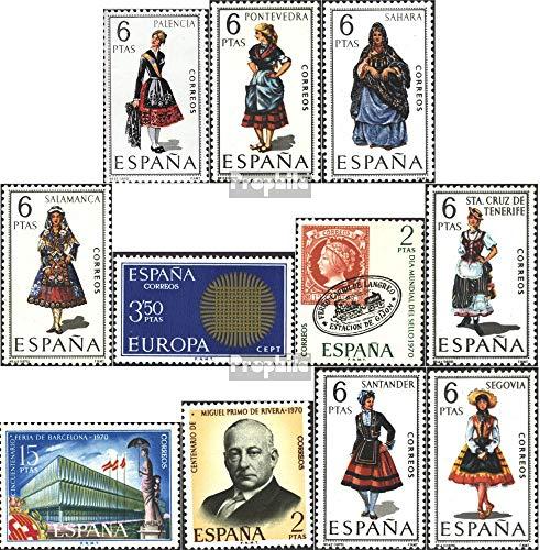 Prophila Collection Spanien 1844,1845,1848,1859,1860 1861,62,63,64,65,71 (kompl.Ausg.) 1970 Trachten, Europa, Briefmarke u.a. (Briefmarken für ()
