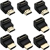 Greluma 8 Pezzi HDMI 2.0 Adattatore Maschio a Femmina Connettore ad Angolo Retto 90 Gradi 270 Gradi Cavo HDMI Extender 3D e 4