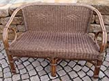 Rattan Sofa Bench (Chair in Brown