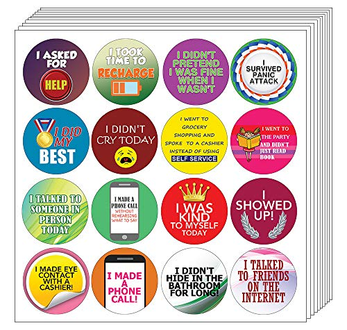 Creanoso Aufkleber für Erwachsene Serie 4 - Selbstpflege (10 Blatt) - Premium Geschenkset - inspirierende Sprüche Zitat Aufkleber sortiert - Geschenk Belohnungen Ideen für Männer & Frauen, Erwachsene