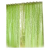 Best Home Fashion Sheer Curtains - Zibuyu Pastoral Style Willow Floral Window Curtain Living Review