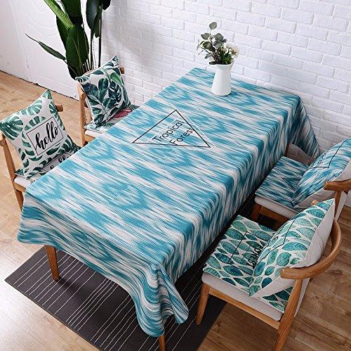 110* 170cm blau Geometrische Art Nordic skandinavischen modernes in in Esstisch Tuch Baumwolle Leinen Schreibtisch Garden rechteckig, quadratisch non-ironing Tischläufer