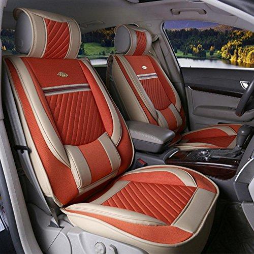 FM Die Auto-Kissen Sind Umgeben Von Vier Jahreszeiten Allgemeine Auto Kissen Leinen Kissen Sitzbezug , Dazzling Orange,dazzling orange (Metall-traktor-sitz-stuhl)