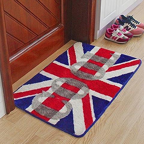 jbmq Le porte di ingresso della personalità continentale aderente il timbro mats zerbino pediluvio spugnette ,50x80cm, inglese britannico