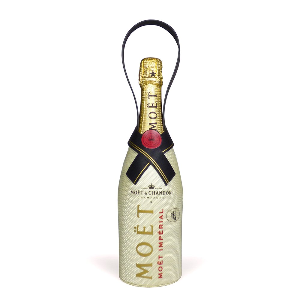 75cl Moet et Chandon Champagne Brut presented in a Branded Chiller Jacket – Gift Ideas for Dad, Fathers Day, Valentines, Mothers Day, Birthday, Wedding, Anniversary, Thank You, Corporate and Business, Congratulations, him, her
