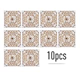 Decdeal 10pcs Pearl Paper Floral Invitation Cards Greeting Card Kits Invitation Holders Birthday Party Anniversary