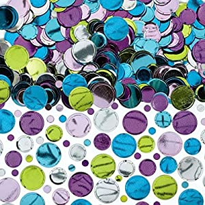 Amscan International-369120confetti-14g Emb/impresión/met/sccnf lunares Pastel Multi