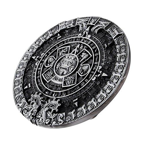 MagiDeal Modische Gürtelschnalle Aztekischer Maya Inca Kalender Männerschmuck Zubehör für 1,5 Zoll breite Gürteln - ()