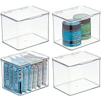 mDesign boîte alimentaire avec couvercle – rangement de cuisine empilable en plastique sans BPA – boîte de rangement…