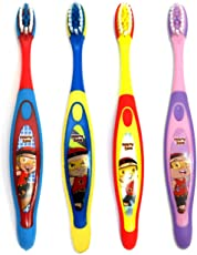 Adore Mighty Raju Kids Toothbrush with Cap (Multi) (Pack of 4)