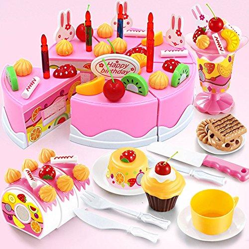 TurnRaise Niños Pretend Play alimentos juguete Set - 75 PC pastel de...