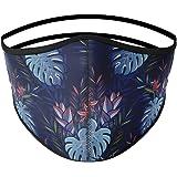 Mascarilla higiénica de tela, reutilizable, lavable con estampado de palmeras, unisex, talla adulto