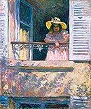 Stampa Artistica/Poster: Henri Lebasque Junges Mädchen mit Sonnenhut am Fenster - Stampa di Alta qualità, Immagini, Poster artistici, 55x65 cm