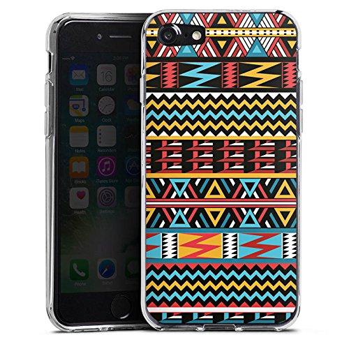 Apple iPhone X Silikon Hülle Case Schutzhülle Ethno Style Muster Tribal Silikon Case transparent