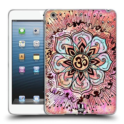 Head Case Designs Rosa Farbspritzer Om Zeichen Soft Gel Hülle für Apple iPad Mini 1/2/3