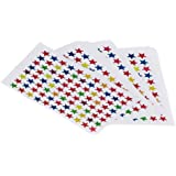 E Shopping Star Shaped Sticker Labels 900 Pieces for School Kids, Teacher, Craft, Project