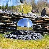 CLGarden Edelstahlkugel 38cm für Springbrunnen Garten Edelstahl aufwendig poliert und rostfrei Gartenbrunnen Zierbrunnen für Außen Wasserspiel