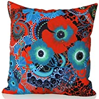 Sunburst Outdoor Living 45cm x 45cm TEMPTATION Federa decorativa per cuscini per divano, letto, sofà (Rust Brown Set Esterno)