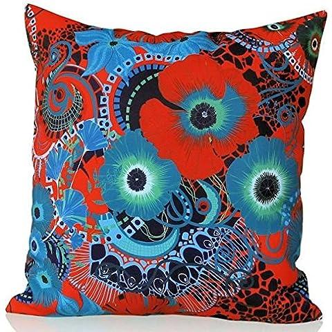 Sunburst Outdoor Living Adore Rosso marocchino Copriletto Cuscino decorativo federa per cuscino divano, letto, divano (Rust Brown Set Esterno)