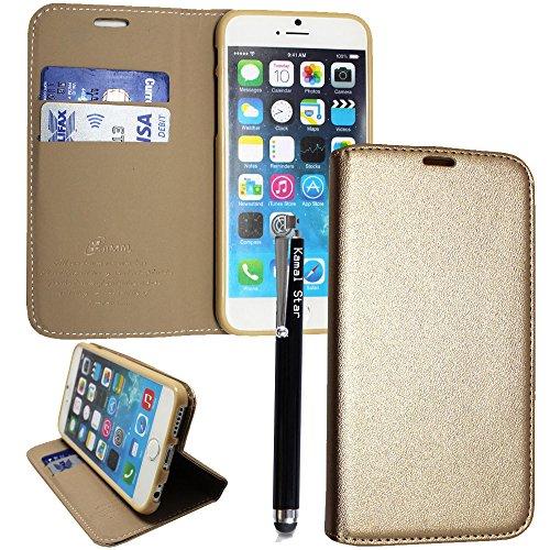 Preisvergleich Produktbild Samsung Galaxy Note 7 Hülle, Kamal Star® PU Leder Flip Case Schutzhülle + Stylus (Magnetic Gold Book)