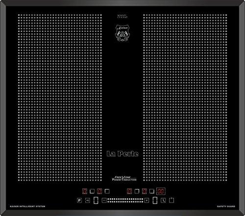 Kaiser KCT 67 La Perle Plaque de cuisson électrique/ induction / 60 cm/ Flex plaque à induction/ 4 zones/ Full Touch/Nettoyage facile/Racloir de nettoyage/Fonction booster /Verre noir, facette/ plaque