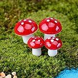 SpirWoRchlan Miniatur-Pilz, zum Basteln, für den Garten, 20 Stück