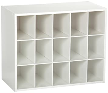 ClosetMaid 8983 Stackable 15 Cube Organizer, White: Amazon.co.uk: Kitchen U0026  Home