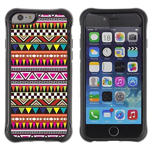 Graphic4You BEIGE TRIBAL Muster Shockproof Anti-Rutsch Weichen Hülle Case Tasche Schutzhülle für Apple iPhone 6 Plus / 6S Plus Design #1