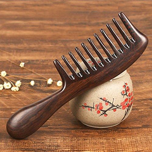 HTPMS Negre Denti Naturali Ricci Capelli Pettine Largo Denti Antistatico Spessa Shun Fat Head Massage Comb
