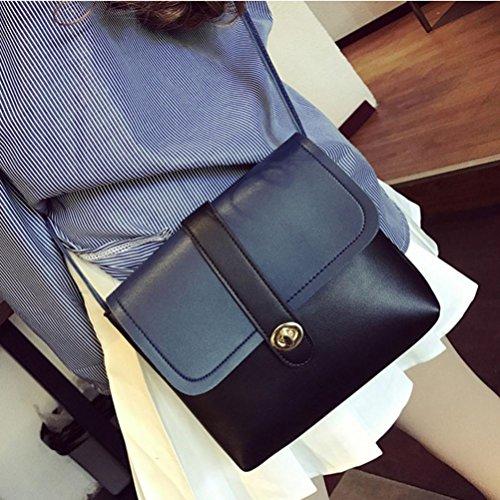 BZLine® Frauen Handtasche Schulter Tasche Schultertasche Tote Bag Elegant Körper taschen, 22cm*4cm*20cm Schwarz