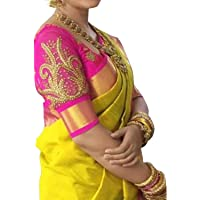 Esomic Women's Cotton Silk Saree with Blouse Piece