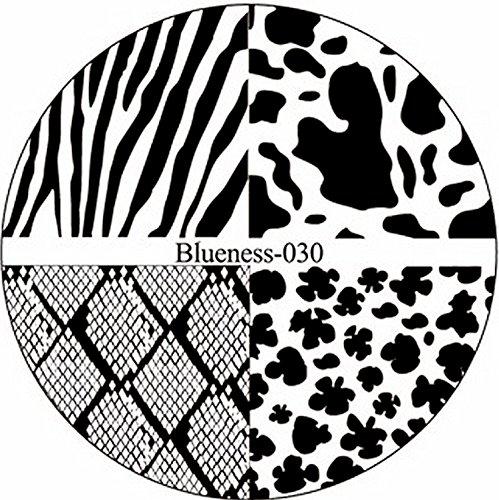 STAMPING-SCHABLONE # BLUENESS-030 Animalprint, Snakeskin, Schlangenhaut, Zebra, Gepard (Zebras Und Geparden)