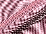 Saum & Viebahn GmbH & Co. KG Dekostoff Gardinenstoff Vorhangstoff LEEDS Karomuster rot Meterware für Gardinen, Vorhänge, Kissen und mehr, Blickdicht, lichtdurchlässig,Polyester, Baumwolle