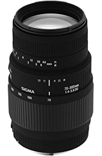 Sigma 70 300mm F/4 5.6 DG Macro Telephoto Zoom Lens for Nikon DSLR Camera