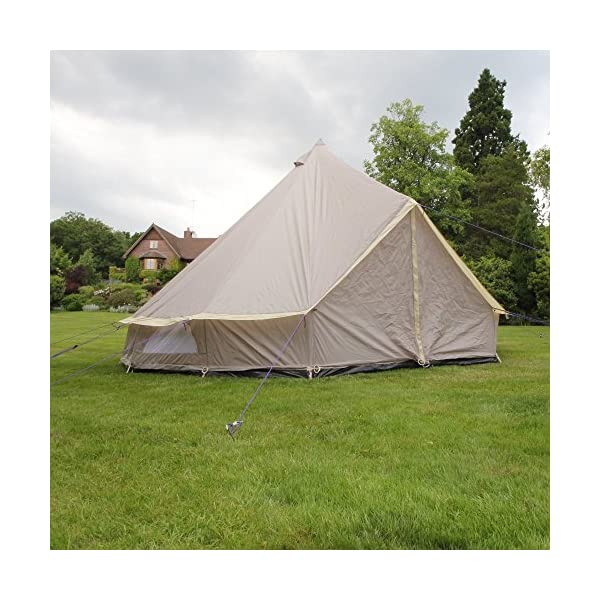 Boutique Camping 4m Lightweight Zipped In Ground Sheet Bell Tent 2