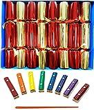 Boîte de 8 Craquelins de Noël familiale avec notes musicales de xylophone par Crackers Ltd (Cat F1)