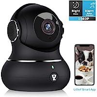 Überwachungskamera Littlelf 1080P HD WLAN IP Kamera WiFi Kamera mit 360°Schwenkbare Baby Monitor, Zwei-Wege-Audio, Bewegungserkennung,Nachtsicht mit Alexa