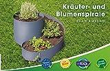 EXCOLO Kleine Kräuterspirale Hoch-Beet Kräuter-Schnecke Kräuterbeet in anthrazit grau RAL 7016