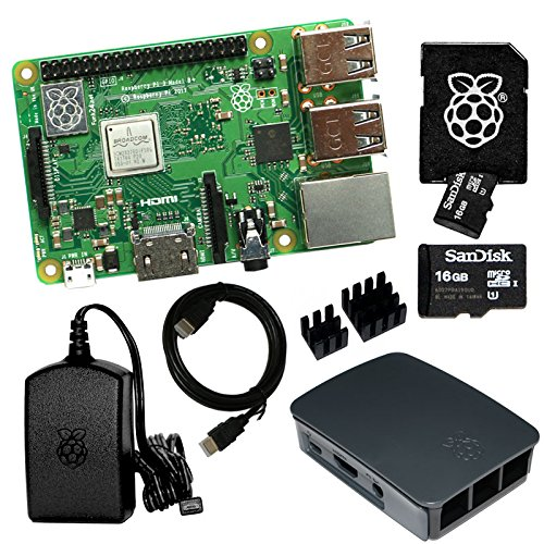 Raspberry Pi 3 Model B+ Bundle mit 16 GB SD-Karte (schwarz) (Bundle B Raspberry Model Pi)