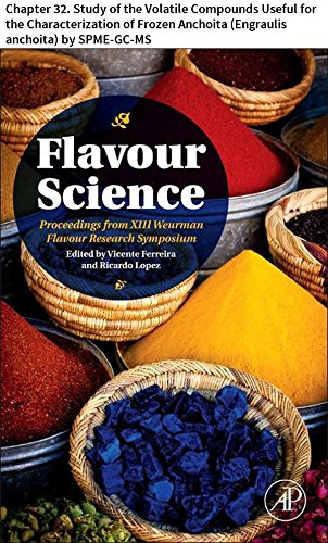 Flavour Science: Chapter 32. Study of the Volatile Compounds Useful for the Characterization of Frozen Anchoita (Engraulis anchoita) by SPME-GC-MS (English Edition)