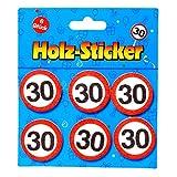 Preis am Stiel 1x Geburtstags Sticker aus Holz 30' | 30. Geburtstag | Geburtstagsartikel | Tischdeko | Partydeko | Geburtstagsdekoration | Glückwunsch | Geburtstagsaccessoires