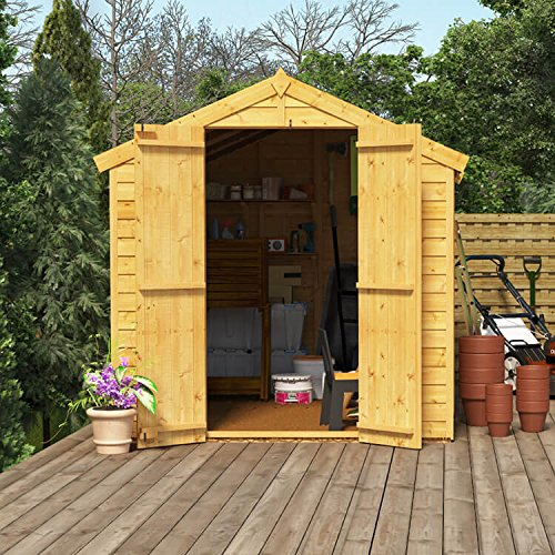 8x6 Wooden Shed Billyoh Keeper Windowed Overlap Apex