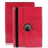 7.9'' Hülle für iPad mini , elecfan ® 360 Grad Rotierende PU Leder Hülle Ultra Dünnen Leichtgewicht Tasche Wasserdicht Case Smart Cover mit Ständer Multi Winkel Betrachtung Anti Kratzer Schutzhülle für iPad mini 1 2 3 (iPad mini 1 2 3, Rose Red)