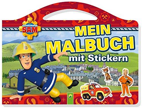 Gemachte Kinder Gut Kostüm - Feuerwehrmann Sam Mein Malbuch mit Stickern