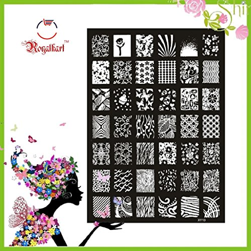 XY Series Nail Art Stamping Image Plate Steel Nail Printing Template for Nail Art BBI-322557