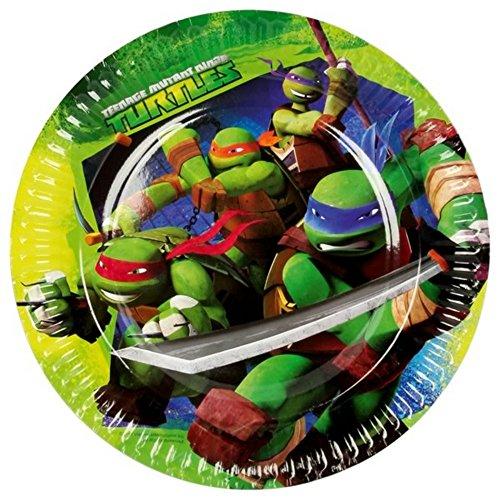 amscan-piatti-di-carta-fantasia-tartarughe-ninja-pacco-da-8-taglia-unica-verde-blu